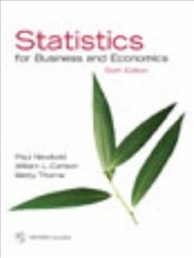 Statistics for Business and Economics 6E w/CD - Newbold, Paul