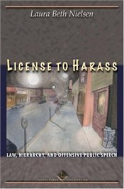 License to Harass : Law, Hierarchy, and Offensive Public Speech - Nielsen, Laura Beth