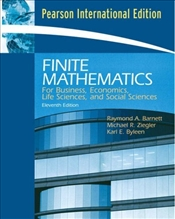 Finite Mathematics 11e PIE : For Business, Economics, Life Sciences and Social Sciences - Barnett, Raymond A.