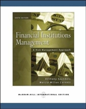 Financial Institutions Management 6e : A Risk Management Approach  - Saunders, Anthony