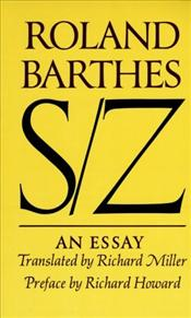 S/Z : An Essay - Barthes, Roland