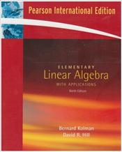 Elementary Linear Algebra with Applications 9e PIE - Kolman, Bernard