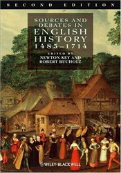 Sources and Debates in English History 2e : 1485-1714 - Key, Newton