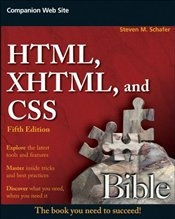 HTML, XHTML, and CSS Bible - SCHAFER, STEVEN M.
