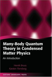 Many-body Quantum Theory in Condensed Matter Physics : Introduction - Bruus, Henrik