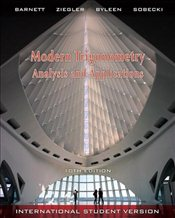 Modern Trigonometry - Analysis and Applications, 10e International Student Version (WSE) - Barnett, Raymond A.