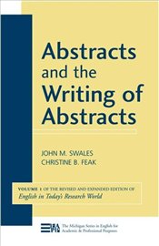 Abstracts and the Writing of Abstracts Vol.1 - Swales, John M.