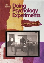Doing Psychology Experiments 7e - Martin, David W.