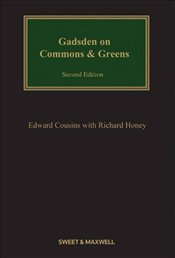 Gadsden on Commons and Greens (Property & Conveyancing Library) - Cousins, Edward F.