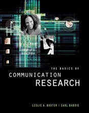 Basics of Communication Research  - Baxter, Leslie A.