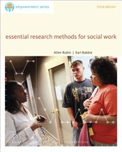 Brooks Cole Empowerment Series: Essential Research Methods for Social Work (SW 385r Social Work Rese - Rubin, Allen