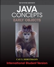 Java Concepts 7e Early Objects  ISV - Horstmann, Cay