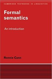 FORMAL SEMANTICS - CANN, RONNIE
