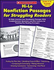 Hi-Lo Nonfiction Passages for Struggling Readers : Grades 6-8 : 80 High-Interest/Low-Readability Pas - Scholastic,