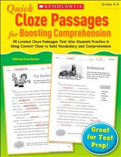 Quick Cloze Passages for Boosting Comprehension, Grades 4-6 - Scholastic,