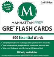 500 Essential Words : GRE Vocabulary Flash Cards 2e - Manhattan