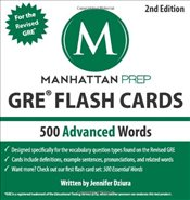 500 Advanced Words : GRE Vocabulary Flash Cards - Manhattan