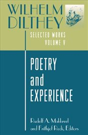 Wilhelm Dilthey : Selected Works : Poetry and Experience: Poetry and Experience : Volume 5 - Dilthey, Wilhelm