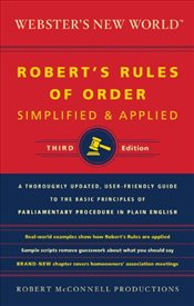 Websters New World Roberts Rules of Order Simplified and Applied : 3e - McConnell, Robert
