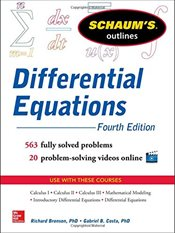 Schaums Outline of Differential Equations 4e - Bronson, Richard