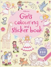 Girls Colouring and Sticker Book - Greenwell, Jessica
