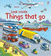 Things That Go With Over 60 Flaps to Lift : Usborne Look Inside - Jones, Rob Lloyd
