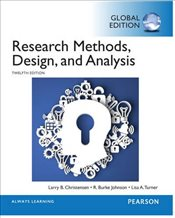Research Methods, Design, and Analysis, Global Edition - Christensen, Larry B.