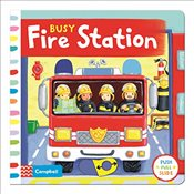 Busy Fire Station: Push, pull and slide the scene to bring the busy fire station to life! (Busy Book - Finn, Rebecca