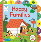 Little Tabs Happy Families: a little tab book for older babies about first phrases - Campbell Books