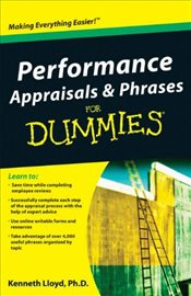 Performance Appraisals and Phrases For Dummies - Lloyd, Ken