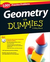 1,001 Geometry Practice Problems For Dummies (For Dummies Series) - Dummies, Consumer