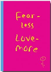 Deffter - Fear Less / Love More Sert Kapak Çizgili Defter 14x20 96yp. -