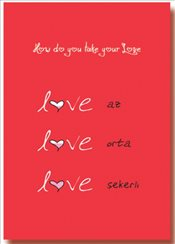 Deffter - How Do You Take Your Love Sert Kapak Çizgisiz Defter 14x20 96yp. -