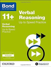 Bond 11+: Verbal Reasoning: Up to Speed Practice: 9-10 years - Down, Frances