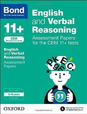 Bond 11+: English and Verbal Reasoning: Assessment Papers for CEM: 9-10 years - Hughes, Michellejoy