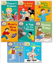 Oxford Reading Tree Read With Biff Chip Kipper Phonics & First Stories Collection 8 Books Set Level  - Brychta, Roderick Hunt and Alex