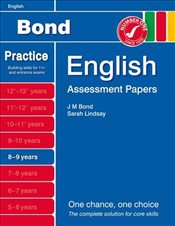 New Bond Assessment Papers English 8-9 Years - Lindsay, Sarah