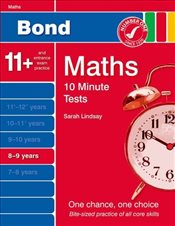 New Bond 10 Minute Tests Maths 8-9 Years - Lindsay, Sarah