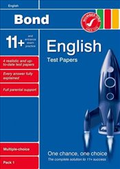 Bond 11+ Test Papers English Multiple-Choice Pack 1 - Lindsay, Sarah