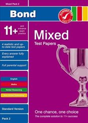 Bond 11+ Test Papers Mixed Pack 2 Standard (Bond 10 Minute Tests) - Down, Frances
