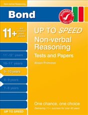 Bond 9-10 Up to Speed Non-Verbal Reasoning Tests and Papers 9-10 years (Bond Up to Speed) - Down, Frances