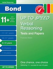 Bond Up to Speed Verbal Reasoning Tests and Papers 9-10 years - Down, Frances