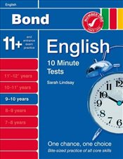 New Bond 10 Minute Tests English 9-10 Years - Lindsay, Sarah