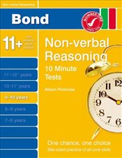 New Bond 10 Minute Tests Non-Verbal Reasoning 9-10 Years - Primrose, Alison