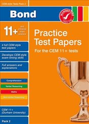 Bond CEM Style 11+ Practice Test Papers 2 All questions - Hughes, Michellejoy