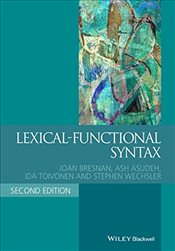 Lexical Functional Syntax  - Bresnan, Joan