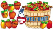 Giant Apple Basket! Bulletin Board - Scholastic,