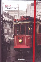 NoteLook - Red Tramway Çizgili Defter A5 100yp. -