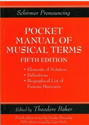 Pocket Manual of Musical Terms  - Fredman, Myer
