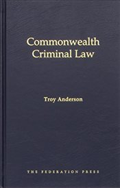 Commonwealth Criminal Law - Anderson, Troy